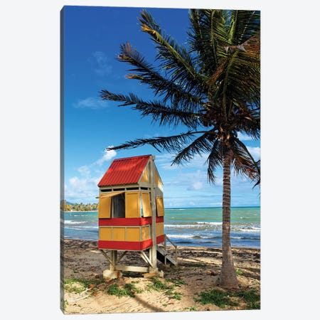 Lifeguard Hut on a Beach, Arroyo, Puerto Rico Canvas Print #GOZ110} by George Oze Canvas Art Print