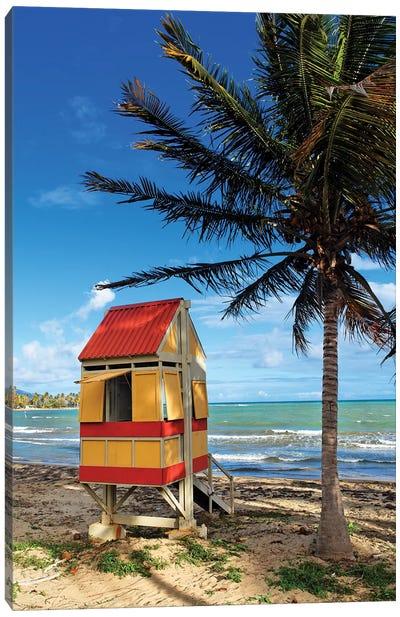 Lifeguard Hut on a Beach, Arroyo, Puerto Rico Canvas Art Print