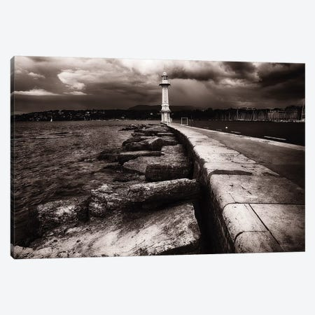 Lighthouse on Lake Geneva  3-Piece Canvas #GOZ114} by George Oze Canvas Artwork