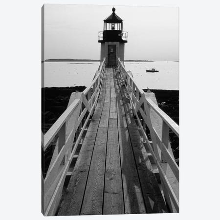 Lightstation and a Boat, Port Clyde, Maine Canvas Print #GOZ115} by George Oze Canvas Wall Art