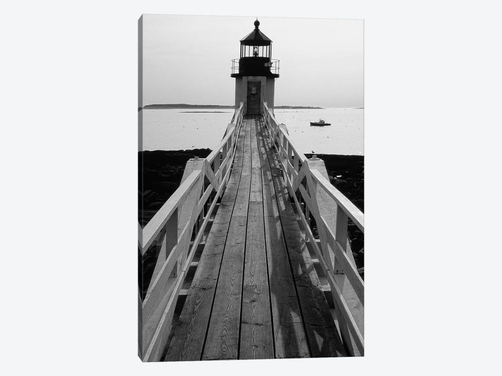 Lightstation and a Boat, Port Clyde, Maine by George Oze 1-piece Canvas Artwork