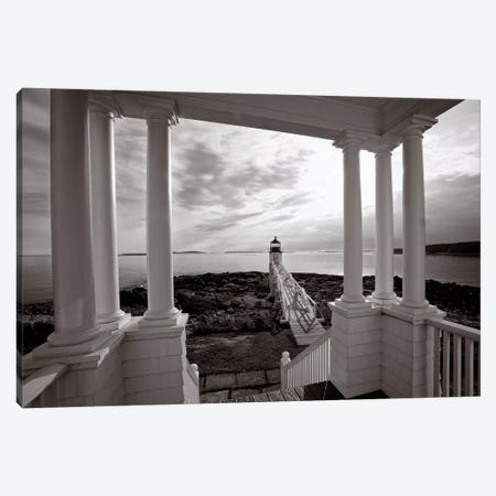 Marshall Point Sunset Viewed from the Keeper's House, Port Clyde, Maine Canvas Print #GOZ127} by George Oze Canvas Art Print