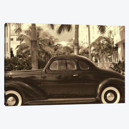 Old Car on Ocean Boulevard, Miami Beach, Florida Canvas Print #GOZ133} by George Oze Art Print