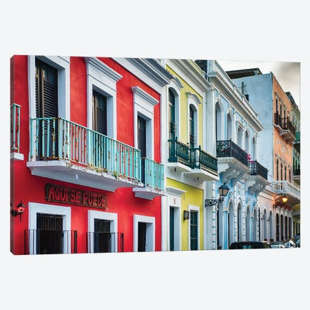 Old San Juan Street Charm II Canvas Print #GOZ136} by George Oze Canvas Art