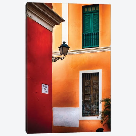 Old San Juan Street Corner Canvas Print #GOZ137} by George Oze Canvas Artwork