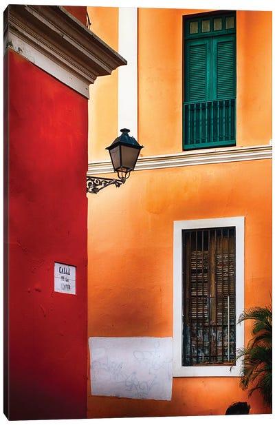 Old San Juan Street Corner Canvas Art Print