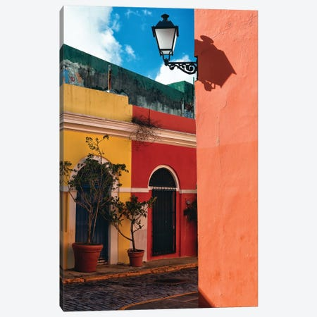Old San Juan Street Corner, Puerto Rico Canvas Print #GOZ138} by George Oze Canvas Art Print
