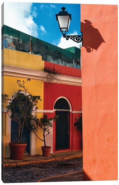 Old San Juan Street Corner, Puerto Rico Canvas Art Print