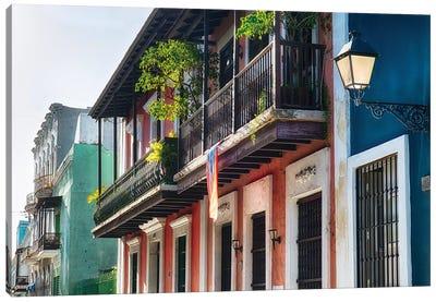 Olld San Juan Street in Atmospheric Light Canvas Art Print