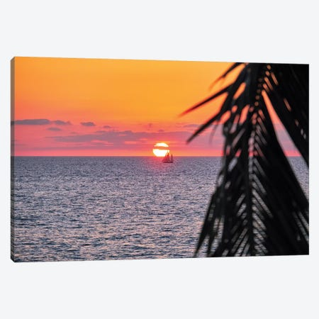 Pacific Coast Sunset, Puerto Vallarta, Mexico Canvas Print #GOZ142} by George Oze Canvas Artwork