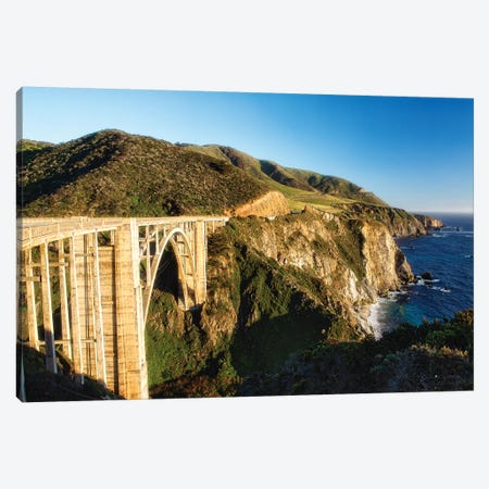 Panoramic View of Big Sur Coast at the Bixby Creek Bridge, California Canvas Print #GOZ146} by George Oze Canvas Print