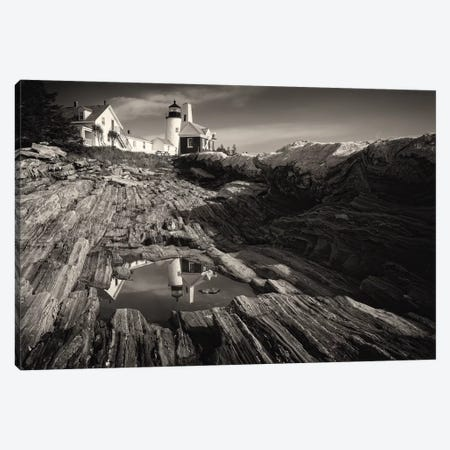 Pemaquid Point Reflection, Bristol, Maine Canvas Print #GOZ149} by George Oze Canvas Art