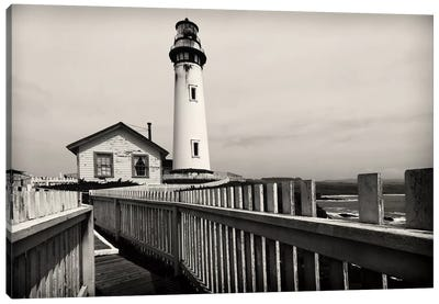 Pigeon Point Lighthouse with Fenced Walkway, San Mateo County, California, USA Canvas Art Print