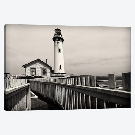 Pigeon Point Lighthouse with Fenced Walkway, San Mateo County, California, USA 3-Piece Canvas #GOZ151} by George Oze Canvas Art Print