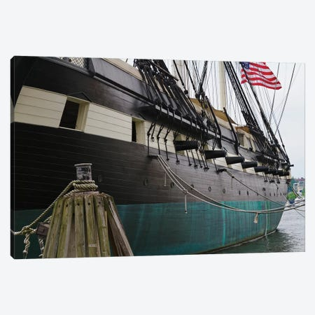 Port Side Close Up View of the USS Constellation Warship, Baltimore Harbor, Maryland Canvas Print #GOZ153} by George Oze Art Print