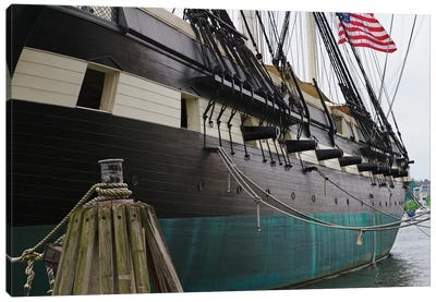 Port Side Close Up View of the USS Constellation Warship, Baltimore Harbor, Maryland Canvas Art Print