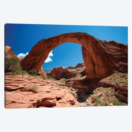 Rainbow Bridge, Lake Powell, Utah Canvas Print #GOZ158} by George Oze Canvas Art Print