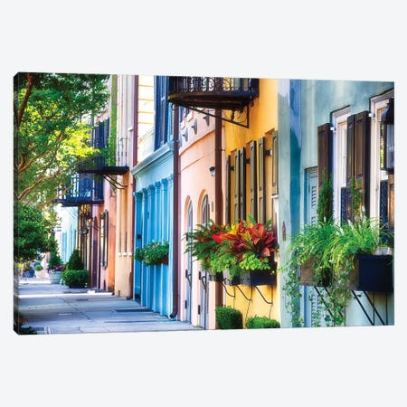 Rainbow Row I Canvas Print #GOZ159} by George Oze Art Print