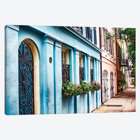 Rainbow Row II Canvas Print #GOZ160} by George Oze Canvas Artwork