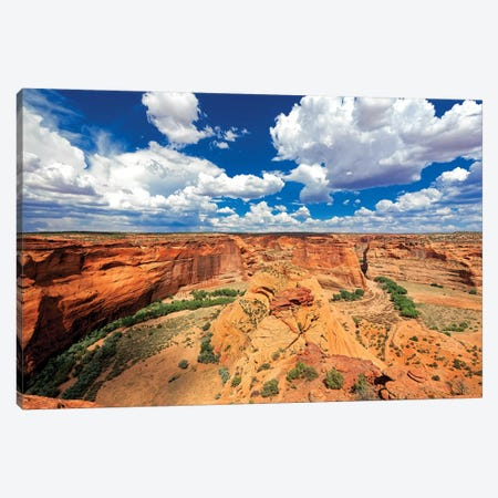 Red Sandstone Canyon, Canyon De Chelly, Arizona Canvas Print #GOZ166} by George Oze Canvas Art Print