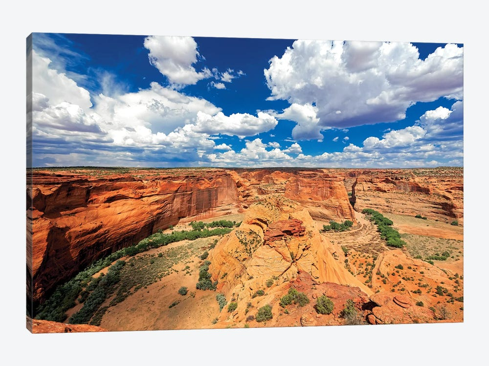 Red Sandstone Canyon, Canyon De Chelly, Arizona by George Oze 1-piece Canvas Art