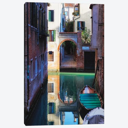Reflection in a Canal, Venice, Italy Canvas Print #GOZ167} by George Oze Art Print