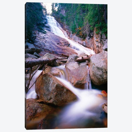 Ripley Falls, Crawford Notch, White Mountains National Forest, New Hampshire Canvas Print #GOZ169} by George Oze Canvas Artwork