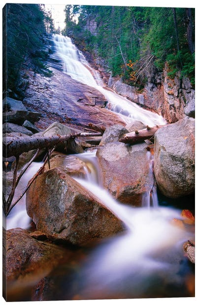 Ripley Falls, Crawford Notch, White Mountains National Forest, New Hampshire Canvas Art Print