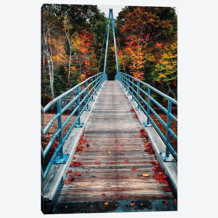 Bemis Bridge Over the Saco River, Hart's Location, New Hampshire Canvas Print #GOZ16} by George Oze Canvas Print