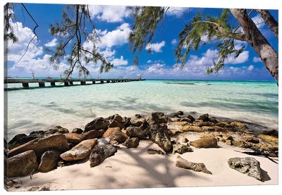 Rum Point Jetty as Viewed from the Shore, Cayman Islands Canvas Art Print