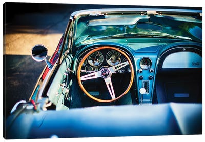 Sophisticated American Classic Car Interior Canvas Art Print