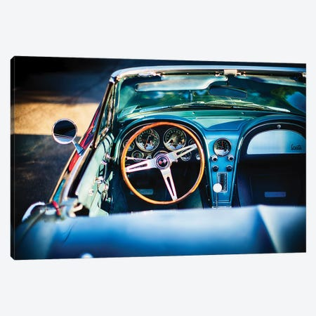 Sophisticated American Classic Car Interior Canvas Print #GOZ187} by George Oze Canvas Print