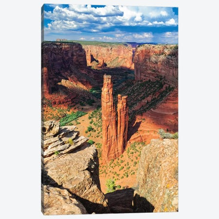 Spider  Rock Canyon de Chelly, Arizona Canvas Print #GOZ190} by George Oze Canvas Art Print