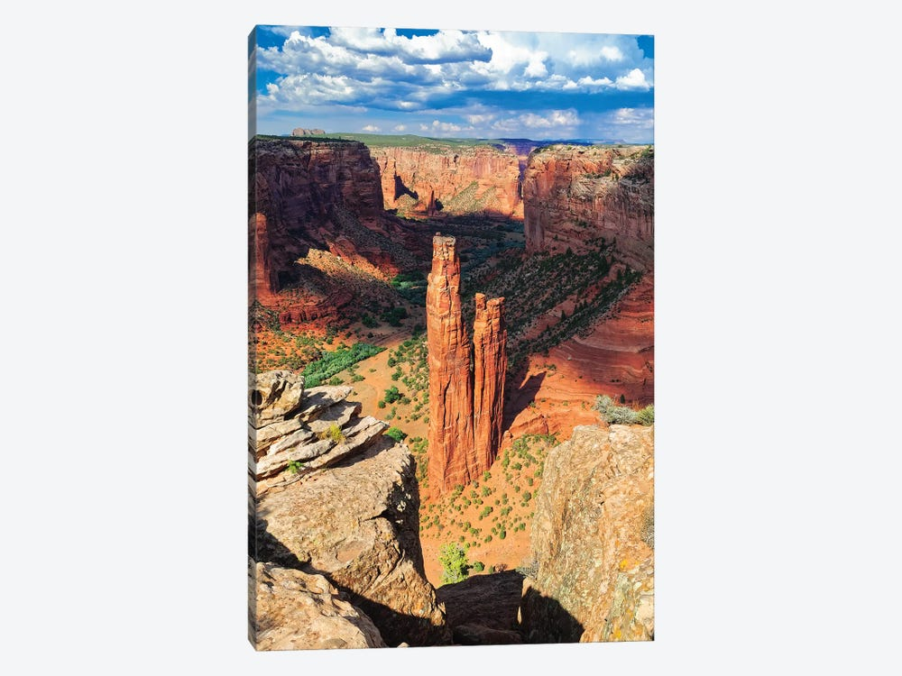 Spider  Rock Canyon de Chelly, Arizona by George Oze 1-piece Art Print