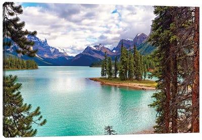 Spirit Island on Maligne Lake, Alberta, Canada Canvas Art Print