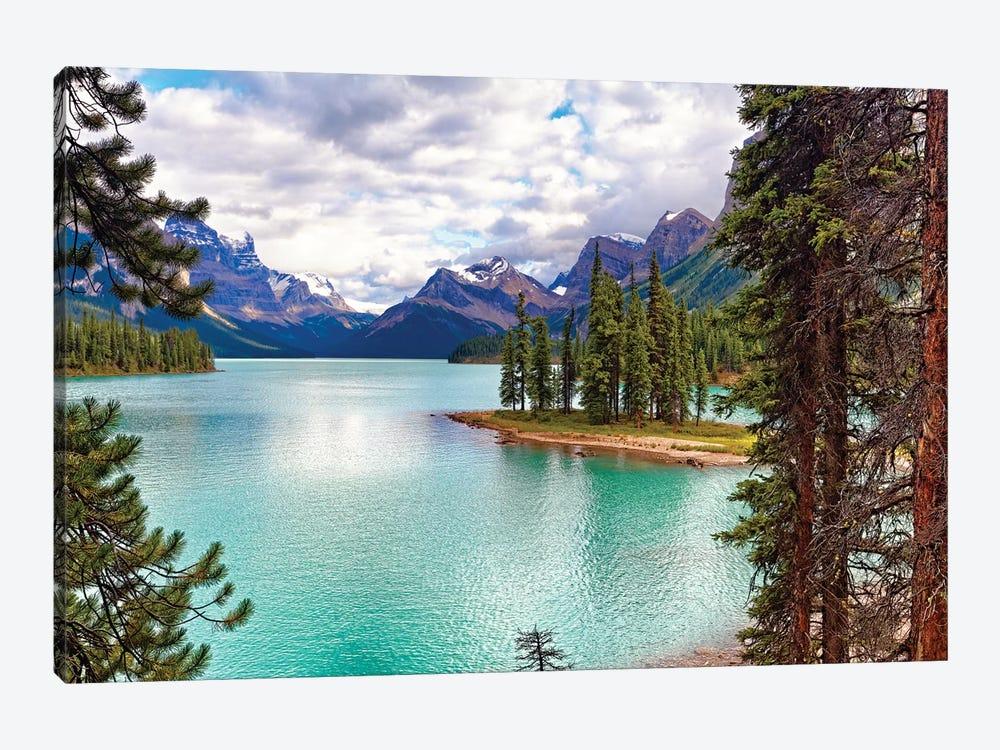 Spirit Island on Maligne Lake, Alberta, Canada by George Oze 1-piece Canvas Artwork