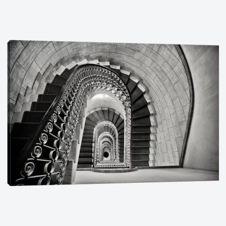 Staircase Perspective Canvas Print #GOZ194} by George Oze Canvas Artwork