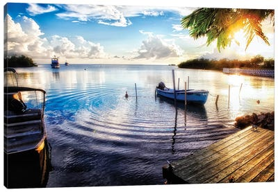 Sunset in a Fishing Village, La Parguera, Puerto Rico Canvas Art Print