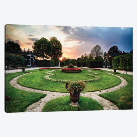 Sunset View of a Garden with Pavilions, Schonbrunn Palace, Vienna, Austria Canvas Print #GOZ198} by George Oze Art Print