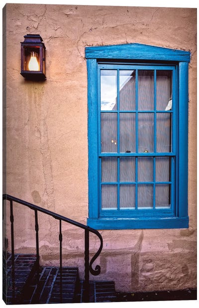 Blue Window, Santa Fe, New Mexico Canvas Art Print