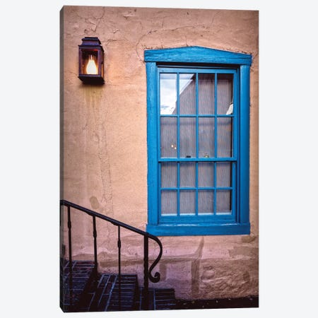 Blue Window, Santa Fe, New Mexico Canvas Print #GOZ19} by George Oze Canvas Art