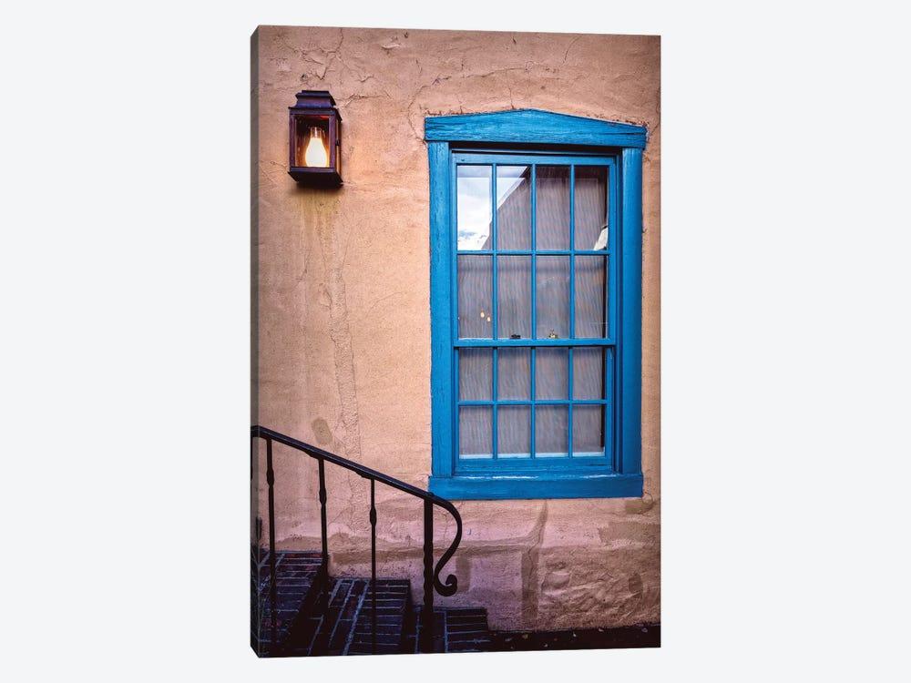 Blue Window, Santa Fe, New Mexico by George Oze 1-piece Art Print