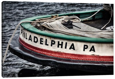 Bow of a Tugboat Canvas Art Print