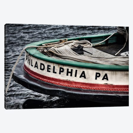 Bow of a Tugboat 3-Piece Canvas #GOZ21} by George Oze Canvas Art Print