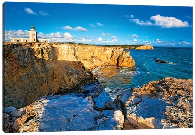 View of the Los Morillos Lighthouse, Cabo Rojo, Puerto Rico Canvas Art Print