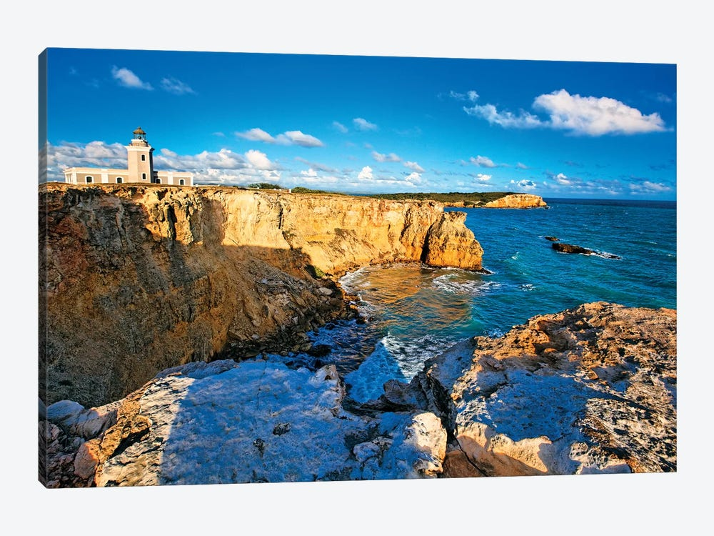 View of the Los Morillos Lighthouse, Cabo Rojo, Puerto Rico by George Oze 1-piece Canvas Art Print