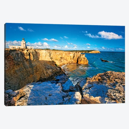 View of the Los Morillos Lighthouse, Cabo Rojo, Puerto Rico Canvas Print #GOZ225} by George Oze Canvas Wall Art