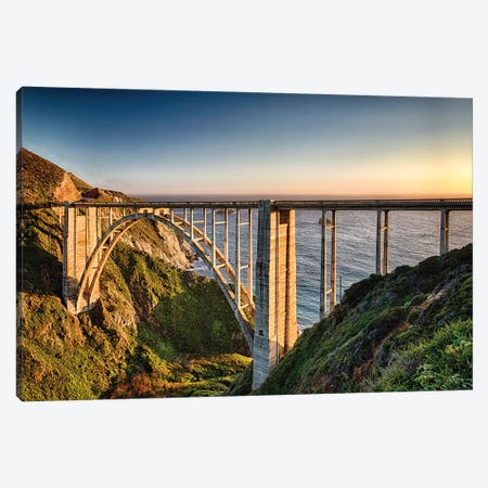 Bridge Over the Bixby Creek, Big Sur Coast, Highway One, California Canvas Print #GOZ22} by George Oze Art Print