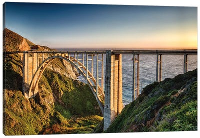 Bridge Over the Bixby Creek, Big Sur Coast, Highway One, California Canvas Art Print