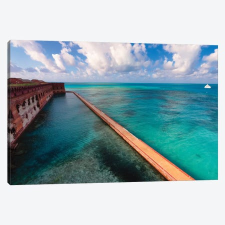 Walls of Fort Jefferson, Dry Tortugas, Florida Canvas Print #GOZ235} by George Oze Art Print